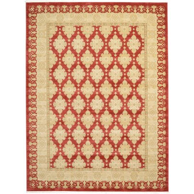 Fonciere Red/Beige Area Rug Rug Size: 9 x 12