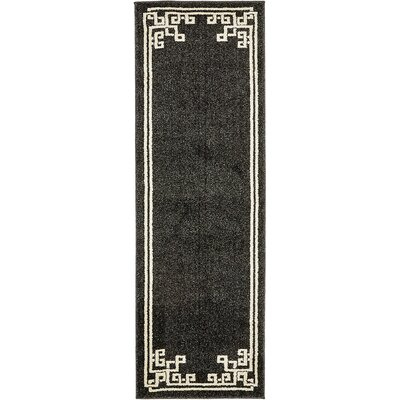 Gedrie Black Area Rug Rug Size: Runner 2 x 6