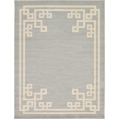 Padstow Gray Area Rug Rug Size: 9 x 12