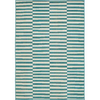 Braxton Teal Area Rug Rug Size: 4 x 6