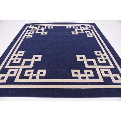 Gedrie Dark Blue Area Rug Rug Size: Square 8