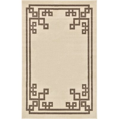 Ellery Rectangle Beige Area Rug Rug Size: Rectangle 5 x 8