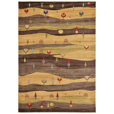 Jan Tan Abstract Area Rug Rug Size: 7 x 10