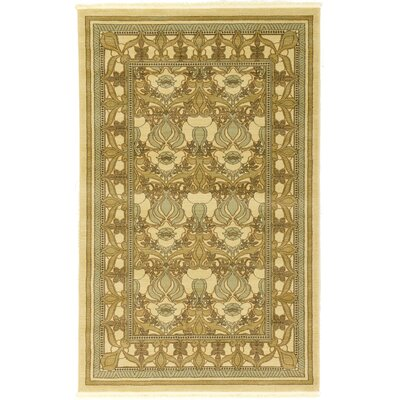 Fonciere Green Area Rug Rug Size: 5 x 8