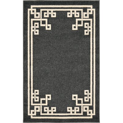 Ellery Black Area Rug Rug Size: Rectangle 3'3