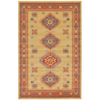 Valley Light Brown Area Rug Rug Size: 10'6