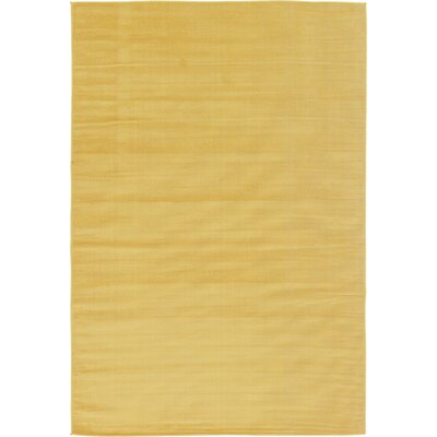 Risley Gold Area Rug Rug Size: 6 x 9