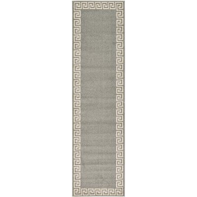 Gedrie Gray Area Rug Rug Size: Runner 27 x 10