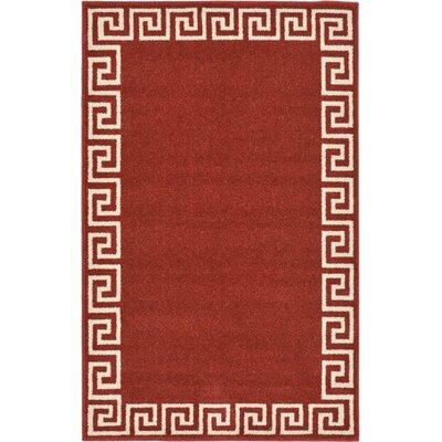 Cendrillon Terracotta Area Rug Rug Size: 33 x 53