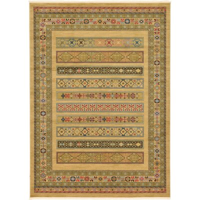 Foret Noire Tan Area Rug Rug Size: Rectangle 8 x 11