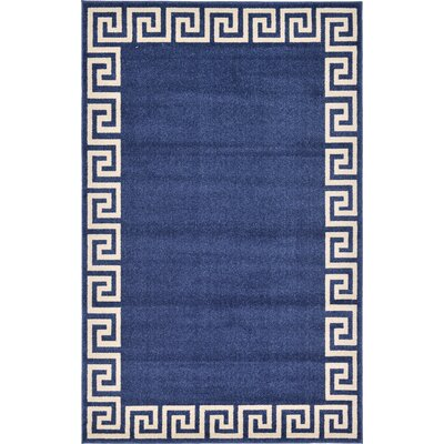 Cendrillon Blue Area Rug Rug Size: Rectangle 5 x 8