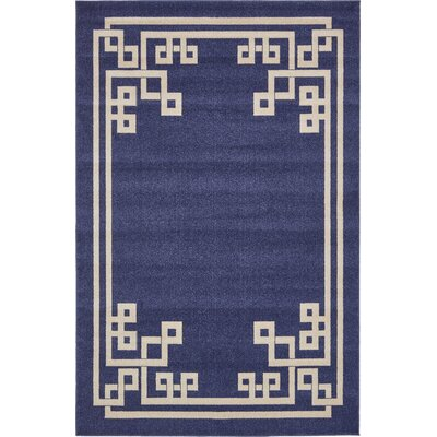 Ellery Dark Blue Area Rug Rug Size: Square 8