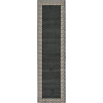 Cendrillon Charcoal Area Rug Rug Size: Runner 27 x 10