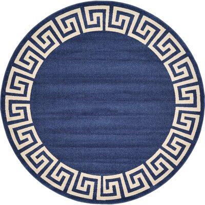 Cendrillon Blue Area Rug Rug Size: Round 8