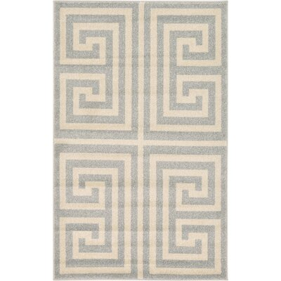 Gedrie Gray Area Rug Rug Size: 33 x 53