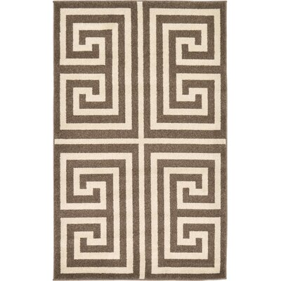 Ellery Brown Area Rug Rug Size: 33 x 53