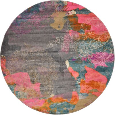 Cherry Street Pink Area Rug Rug Size: Round 8 x 8