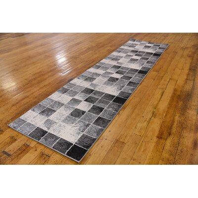 Leif Light Gray Area Rug Rug Size: Runner 27 x 10