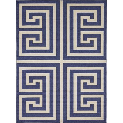 Ellery Blue Area Rug Rug Size: Rectangle 8 x 11