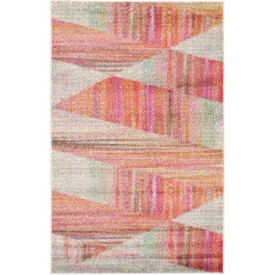 Aristomache Pink Area Rug Rug Size: Rectangle 33 x 53