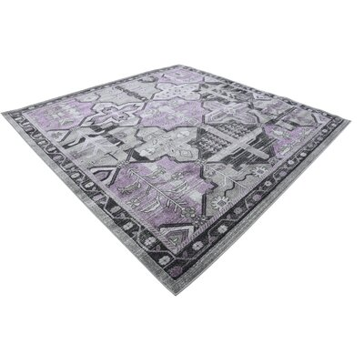 Irma Purple Area Rug Rug Size: Square 8