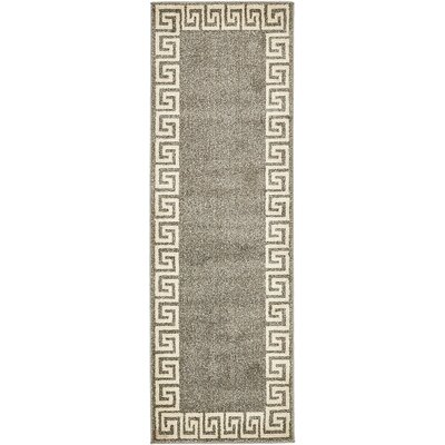 Gedrie Gray Area Rug Rug Size: Runner 2 x 6
