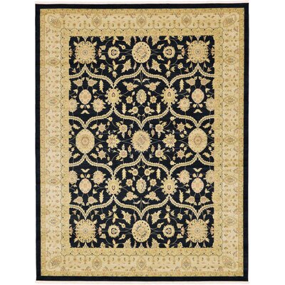 Jamar Traditional Black Oriental Area Rug Rug Size: 9 x 12