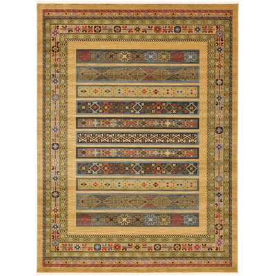 Foret Noire Tan Area Rug Rug Size: 9 x 12