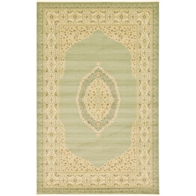 Fonciere Light Green Area Rug Rug Size: Rectangle 106 x 165