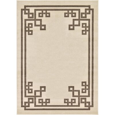 Ellery Rectangle Beige Area Rug Rug Size: 7 x 10