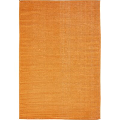 Risley Orange Area Rug Rug Size: 4 x 6
