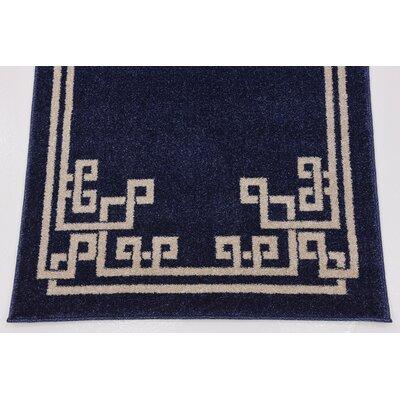 Ellery Dark Blue Area Rug Rug Size: Runner 27 x 10