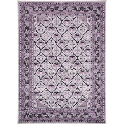 Lisbon Light Gray Area Rug Rug Size: Rectangle 7 x 10