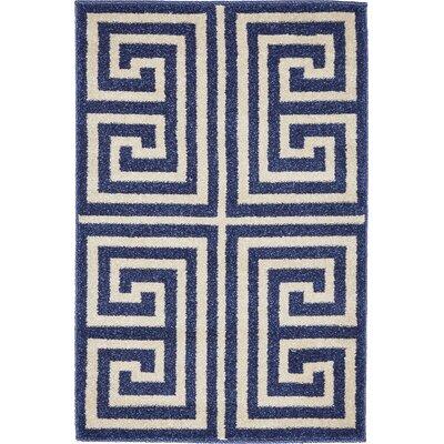 Ellery Blue Area Rug Rug Size: 2 x 3