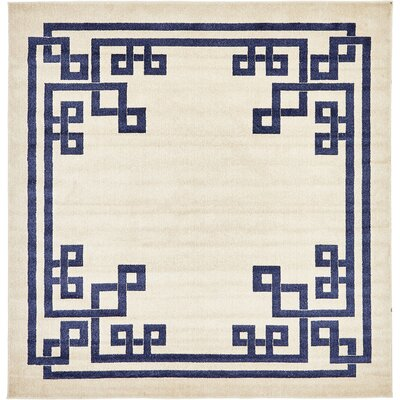 Gedrie Beige Area Rug Rug Size: Square 8