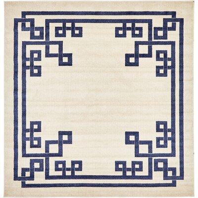 Ellery Beige Area Rug Rug Size: Square 8
