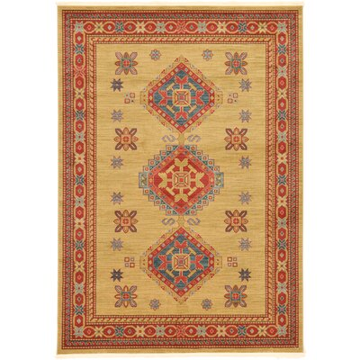 Valley Light Brown Area Rug Rug Size: 7' x 10'