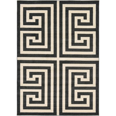 Ellery Black/Beige Area Rug Rug Size: 7' x 10'
