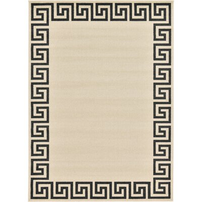 Ellery Beige/Black Area Rug Rug Size: Rectangle 7 x 10