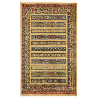 Foret Noire Tan Area Rug Rug Size: 33 x 53