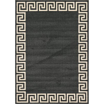 Cendrillon Charcoal Area Rug Rug Size: Rectangle 7 x 10
