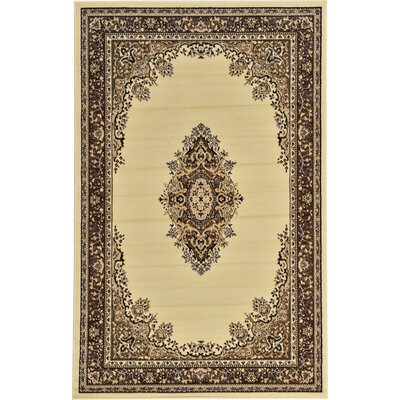 Britain Ivory Area Rug Rug Size: Rectangle 5 x 8