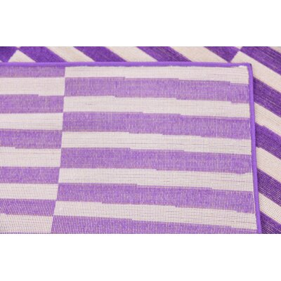 Braxton Purple Area Rug Rug Size: 5 x 8