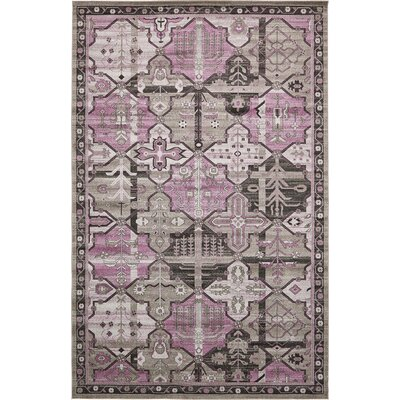 Luna Purple/Gray Area Rug Rug Size: 10' x 16'