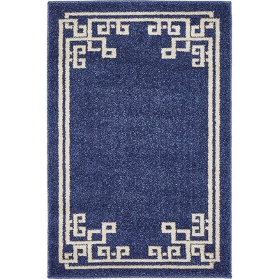 Gedrie Dark Blue Area Rug Rug Size: 22 x 3