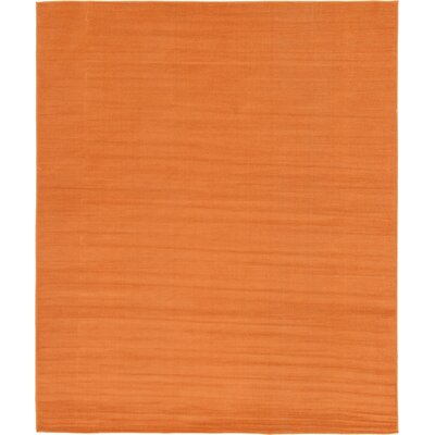 Risley Orange Area Rug Rug Size: Round 8