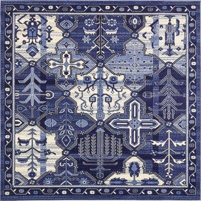 Luna Blue/Beige Area Rug Rug Size: Square 8'