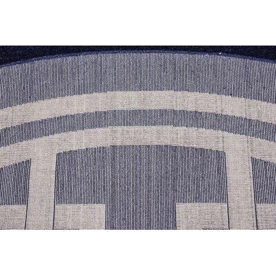 Ellery Dark Blue Area Rug Rug Size: Round 6