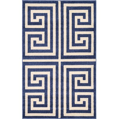 Ellery Blue Area Rug Rug Size: Rectangle 33 x 53