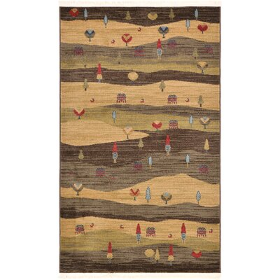 Jan Tan Abstract Area Rug Rug Size: 33 x 53